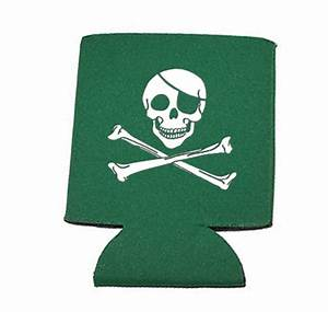 Green Can Koozie Jolly Roger Limited