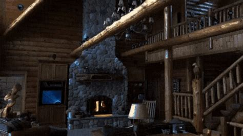 log cabin fireplace gif logcabin fireplace quaint