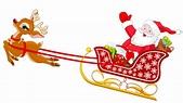 Santa With Reindeer - ClipArt Best