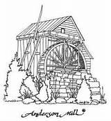 Coloring Watermill Mill Garden Designlooter Volente Anderson Sketch Tx Template sketch template