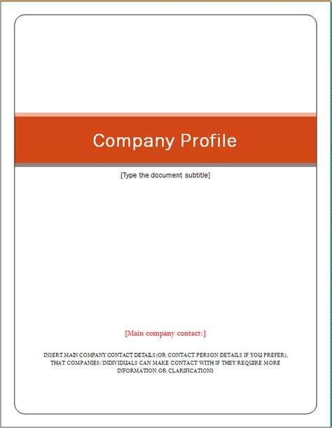 company profile template word excel templates