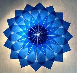 3d Stern Basteln 5 Zacken : blauer stern 16 zacken sterne aus transparentpapier ~ Lizthompson.info Haus und Dekorationen