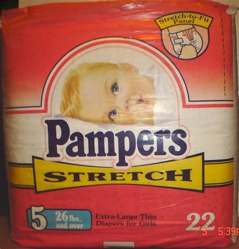 Pampers 1993 16 Pampers Stretch Size 5 For Girls By