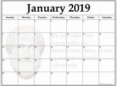 January Printable Calendar 2019 New 24 January 2019
