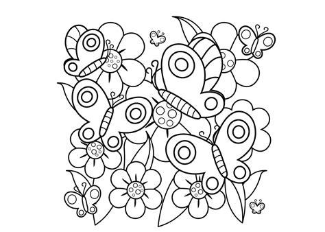 Kleurplaat Bloemen by Pin Vlinder Mandala Kleurplaat Bloemen Kleurplaten