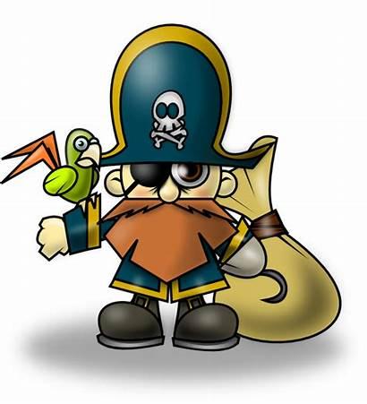 Pirate Clipart Clip Cartoon Domain Pirat Printable