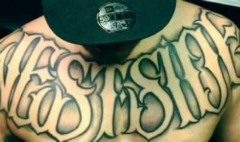 west side tattoo lettering side tattoos tattoos