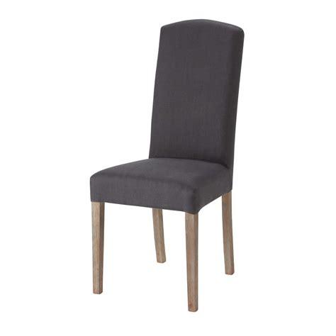 chaise en housse de chaise en anthracite maisons du monde
