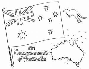 Printable Australian Flag Coloring Page Free Pdf Download