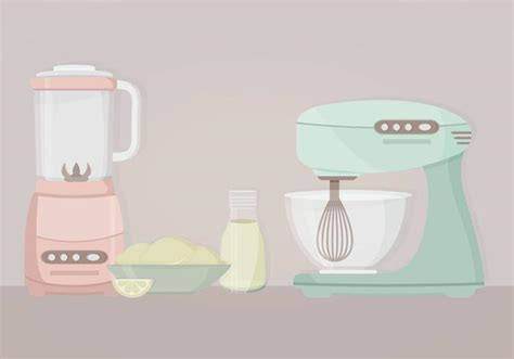 Kitchenaid Mixer Vector by Vector Kitchen Objects Free Vector Stock