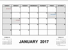 2017 Calendar With Holidays PDF Free Printable Templates