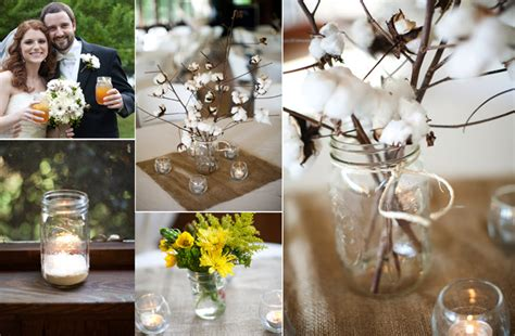 vintage inspired wedding decor diy mason jars onewed com