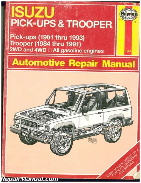 online auto repair manual 1995 isuzu trooper free book repair manuals used haynes isuzu trooper pick ups 1981 1993 auto repair manual