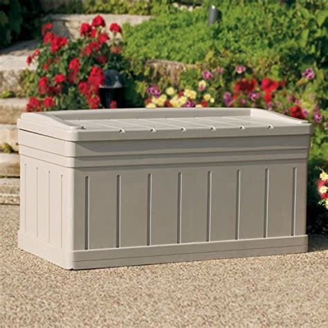 Suncast Deck Box With Seat Taupe by Suncast 129 Gallon Deck Box With Seat Taupe 53 Quot L X 29 Quot W