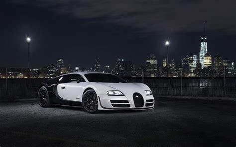 black  white panda bugatti veyron super sport front