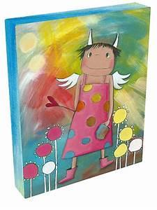Bilder Fürs Kinderzimmer Leinwand : schutzengel holly serie acrylbilder f rs kinderzimmer ~ Markanthonyermac.com Haus und Dekorationen