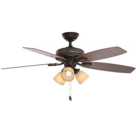 hunter highbury ceiling fan hunter highbury 52 in indoor new bronze ceiling fan 52006