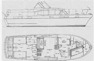 42 U0026 39  Chris Craft Constellation 1950s Floorplan