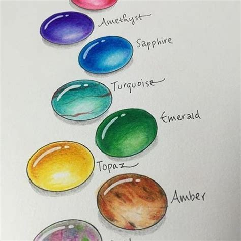 hand drawn gems  tombow signature designer marie