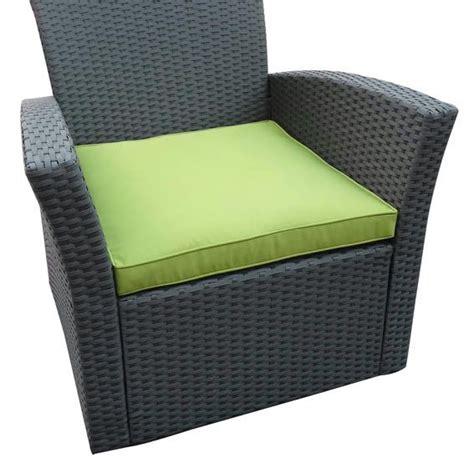 Coussin de fauteuil Ibiza Vert - Salon de jardin - Eminza