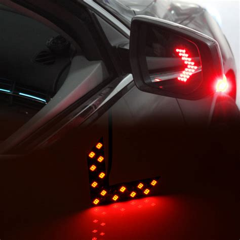 2x 14 smd led arrow panels for car side mirror turn signal indicator light ebay