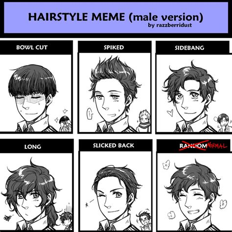 Meme Hairstyles - hairstyle meme male version spain by hime1999