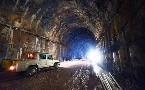 kaleshwaram project tunnel work  brisk progress