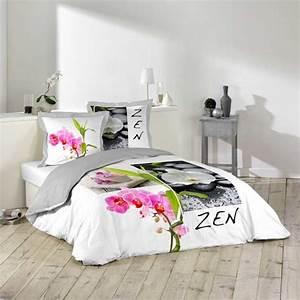 Parure De Lit Zen : parure de lit 3 pi ces 220x240cm zen ~ Teatrodelosmanantiales.com Idées de Décoration