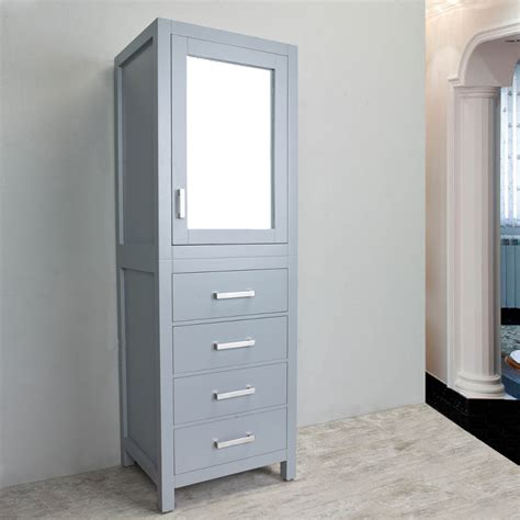 eviva  york  grey sidelinen bathroom cabinet