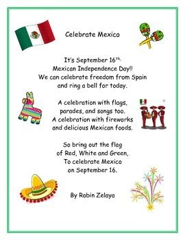 Mexican Independence Day Poem by be green 17 | Teachers ...