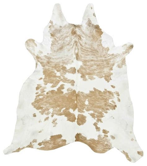 Cowhide Rug, Light Tan And White  Eclectic  Rugs By