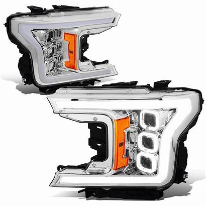 Led Ford Drl Headlights Projector Sequential Chrome