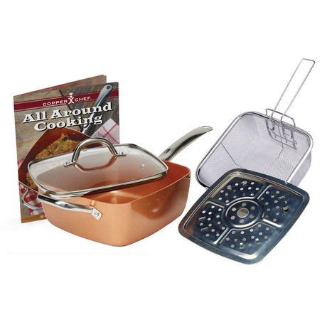 copper chef  piece cookware set walmartca