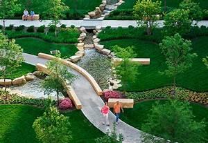 Miami valley hospital landscape design nbbj for Latest landscape design