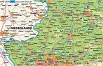 Map of Münsterland (Region in Germany North Rhine ...