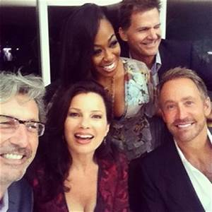 Charles Shaughnessy, Fran Drescher and Peter Marc Jacobson ...