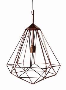 Suspension Luminaire Cuivre : suspension diamant m h 55 cm cuivre medium h 55 cm pols potten ~ Teatrodelosmanantiales.com Idées de Décoration
