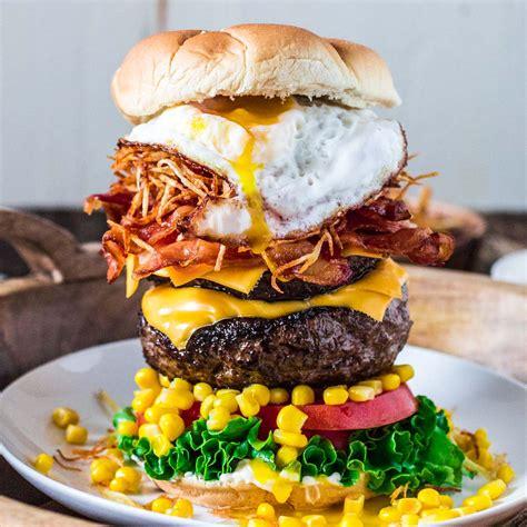 brazilian epic burger  egg olivias cuisine