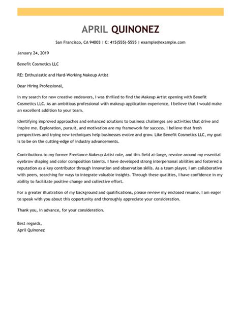 sample cover letters  industry expertise level