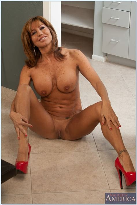 Sizzling Hot Mom Teasing On The Kitchen Floor Photos Tara