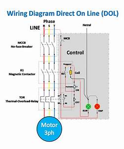 Wiring Diagram And Control Of Direct On Line 3