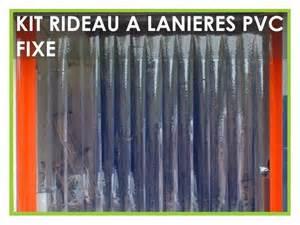 Rideau Laniere Pvc by Rideau A Lanieres Pvc Fixe Ou Decrochable