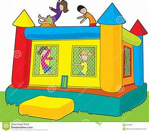 Bounce Castle Kids stock vector. Image of astrojump ...