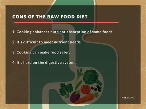 raw food diet good  bad pros  cons yuri