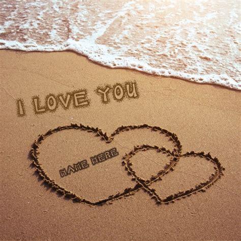 love  sand writing   beach