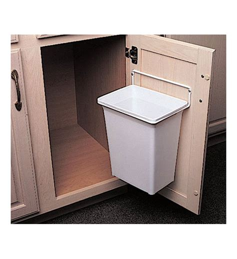 kitchen trash can ideas the door mounted trash can gives you a convenient trash
