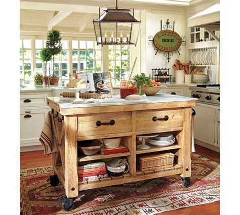 kitchen islands pottery barn hamilton reclaimed wood marble top kitchen island large