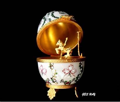 Faberge Palace Egg Imperial Gatchina Limoges Carousel