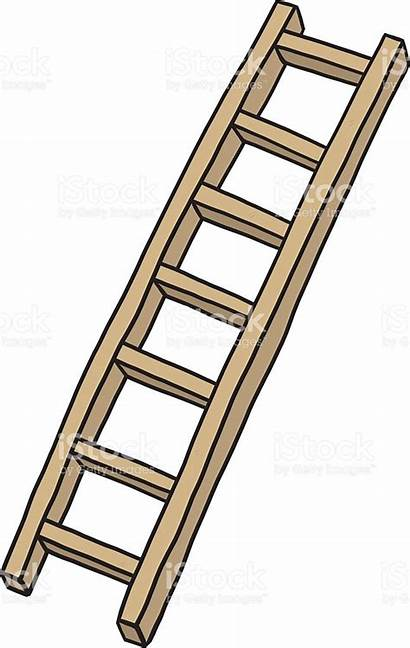 Ladder Wooden Clipart Vector Stairs Wood Illustration
