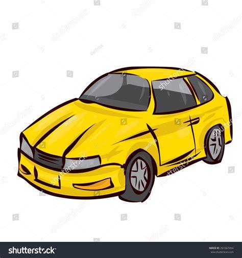 Hand Drawn Sport Car Cartoon Vector Stock Vector 261667454